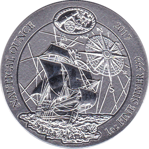 50 RWF 2017 Schiff Santa Maria - Nautical Silberunze