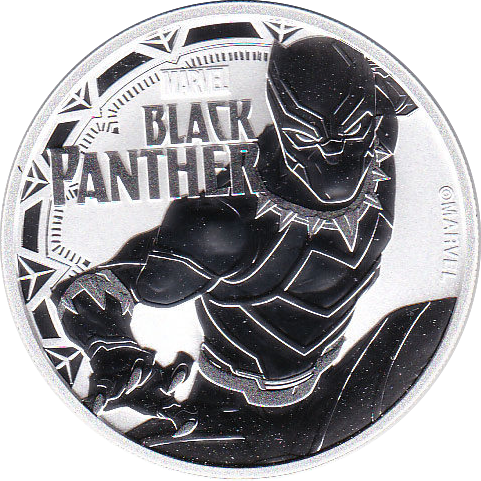 1 Dollar 2018 Black Panther