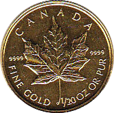 1 Dollar 1993 Maple Leaf 1/20 Unze