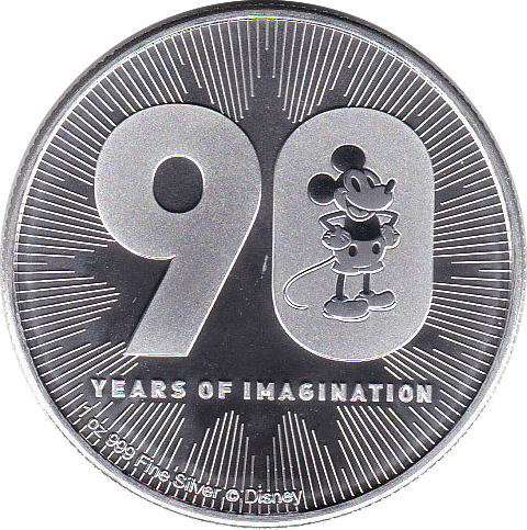 2 Dollar 2018 Disney 90 Jahre Mickey Mouse