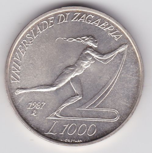 1.000 Lire 1987. Universiade Zagreb