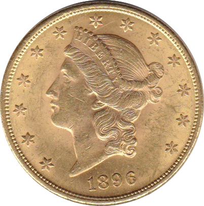20 Dollar 1896 Liberty-Kopf