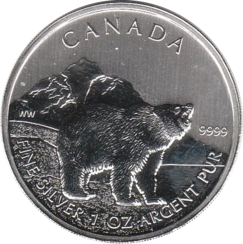 5 Dollar 2011 Grizzly