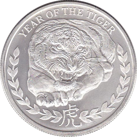 1.000 Shillings 2010 Lunar Tiger