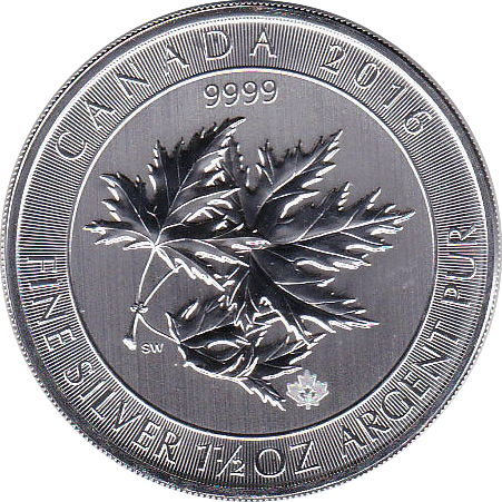 8 Dollar 2016 Multi Maple Leaf 1,5 Unzen