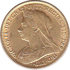 1/2 Sovereign 1899 Victoria