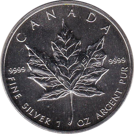 5 Dollar 1990 Maple Leaf