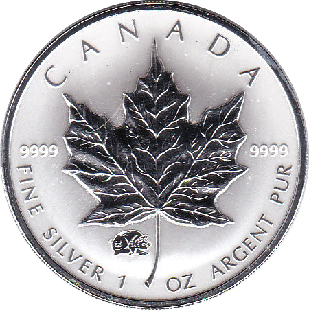 5 Dollar 2007 Maple Leaf PM Schwein