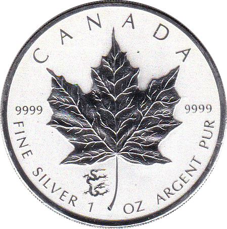 5 Dollar 2012 Maple Leaf PM Drache