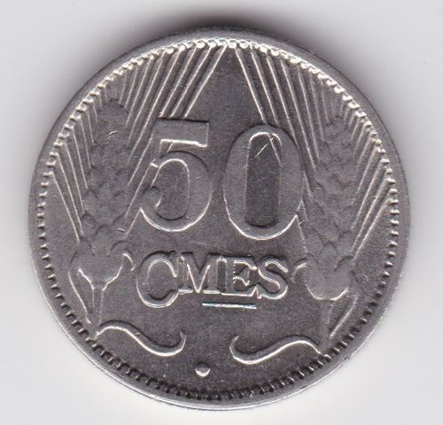 50 Centimes 1930 Charlotte Nickel