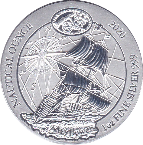 50 RWF 2020 Schiff Mayflower - Nautical-Silberunze